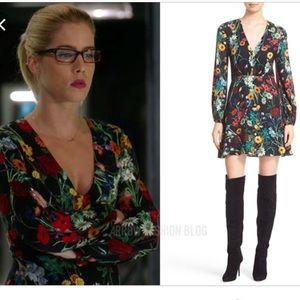 "Alice & Olivia ""Cary"" floral blouson dress 2"